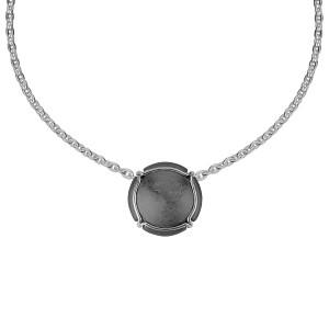Champ ! Capsule pendant, black-rhodium-plated silver, muselet, white rhodium-plated silver,