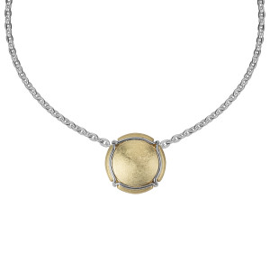 Champ ! Capsule pendant, yellow gold-plated silver, muselet, white rhodium-plated silver,