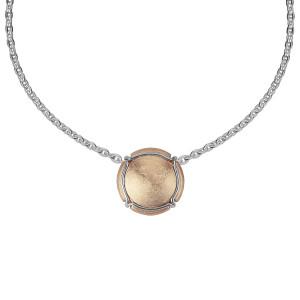 Champ ! Satiny rose gold capsule pendant, white gold muselet,