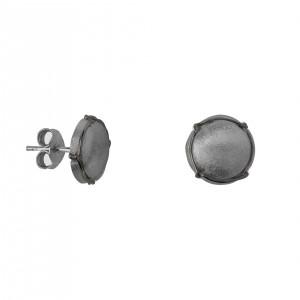 Champ!, ear chips, satin black rhodium-plated 925 silver, mini-capsules, muselet, black rhodium-plated 925 silver,