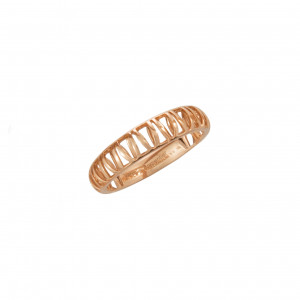 """""""Ma cousine Tonkinoise"""", openwork and domed wedding ring, rose gold,"""