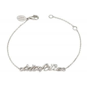 'Alafolie' chain bracelet, silver 925, white rhodium, white diamond,