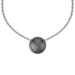 Champ ! Capsule pendant, black-rhodium-plated silver, muselet, black rhodium-plated silver,