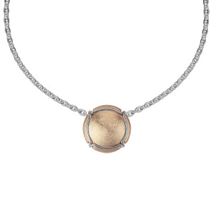 Champ ! Capsule pendant, rose gold-plated silver, muselet, white rhodium-plated silver,