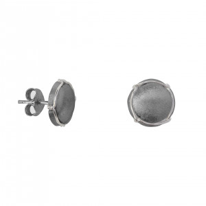 Champ!, ear chips, satin black rhodium-plated 925 silver, mini-capsules, muselet, white rhodium-plated 925 silver,