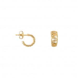 """""""Ma cousine Tonkinoise"""", earrings, mini-creoles, openwork, yellow  gold,"""