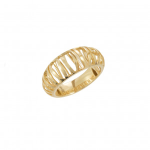 """""""Ma cousine Tonkinoise"""", openwork and domed ring, yellow gold,"""