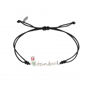 Globe-Trotter, Istambul bracelet, silver 925, white rhodium