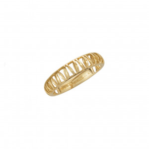 """""""Ma cousine Tonkinoise"""", openwork and domed wedding ring, yellow gold,"""
