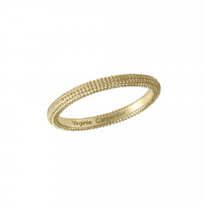 Pills, guilloched ring, yellow gold-plated 925 silver,