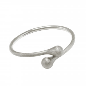 """""""Open Wallet"""", You & Me bangle, purse clasp, sterling silver, white rhodium, (size M)"""