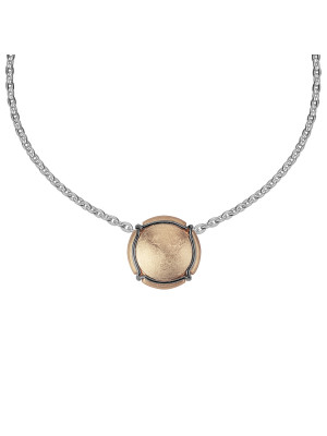 Champ ! Capsule pendant, yellow gold-plated silver, muselet, black rhodium-plated silver,