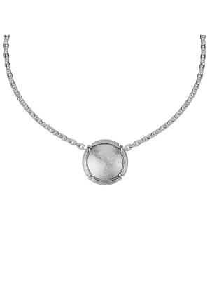 Champ ! Satiny white gold capsule pendant, white gold muselet,