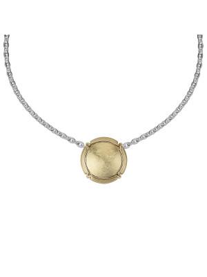 Champ ! Satiny yellow gold capsule pendant, yellow gold muselet,
