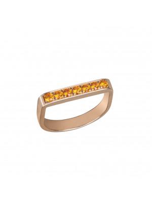 """""""Baby Candy"""", Stirrup Ring, rose gold, orange spessartites,"""