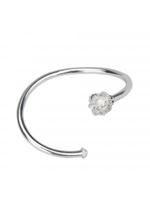 Princesse Tipois bangle, crown, fresh water pearl, white diamonds, white gold