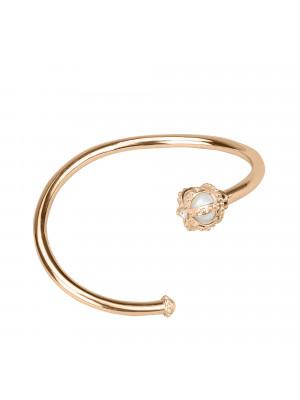 Princesse Tipois bangle, crown, fresh water pearl, white diamonds, pink gold