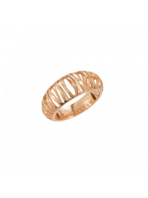 """""""Ma cousine Tonkinoise"""", openwork and domed ring, rose gold,"""