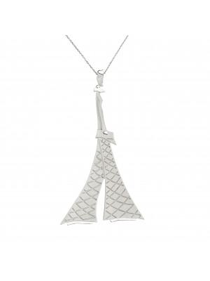 """""""Parizou -Parizette"""", """"Parizette chain pendant, satiny and polished  finish, 925 silver,"""