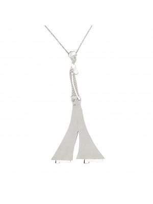 """Parizou -Parizette"",  ""Parizou"" chain pendant, satiny and polished finish, 925 silver,"