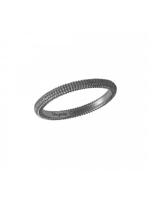 Pills, guilloched ring, 18k black gold