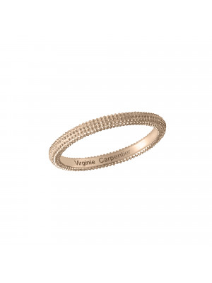 Pills, guilloched ring, rose gold-plated 925 silver,