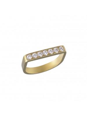 """Baby Candy"", stirrup ring, yelllow gold, white diamonds,"