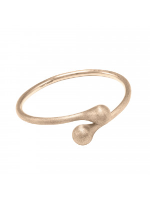 """""""Open Wallet"""",  You & Me bangle, purse clasp, sterling silver, rose-gold plated, (size M)"""
