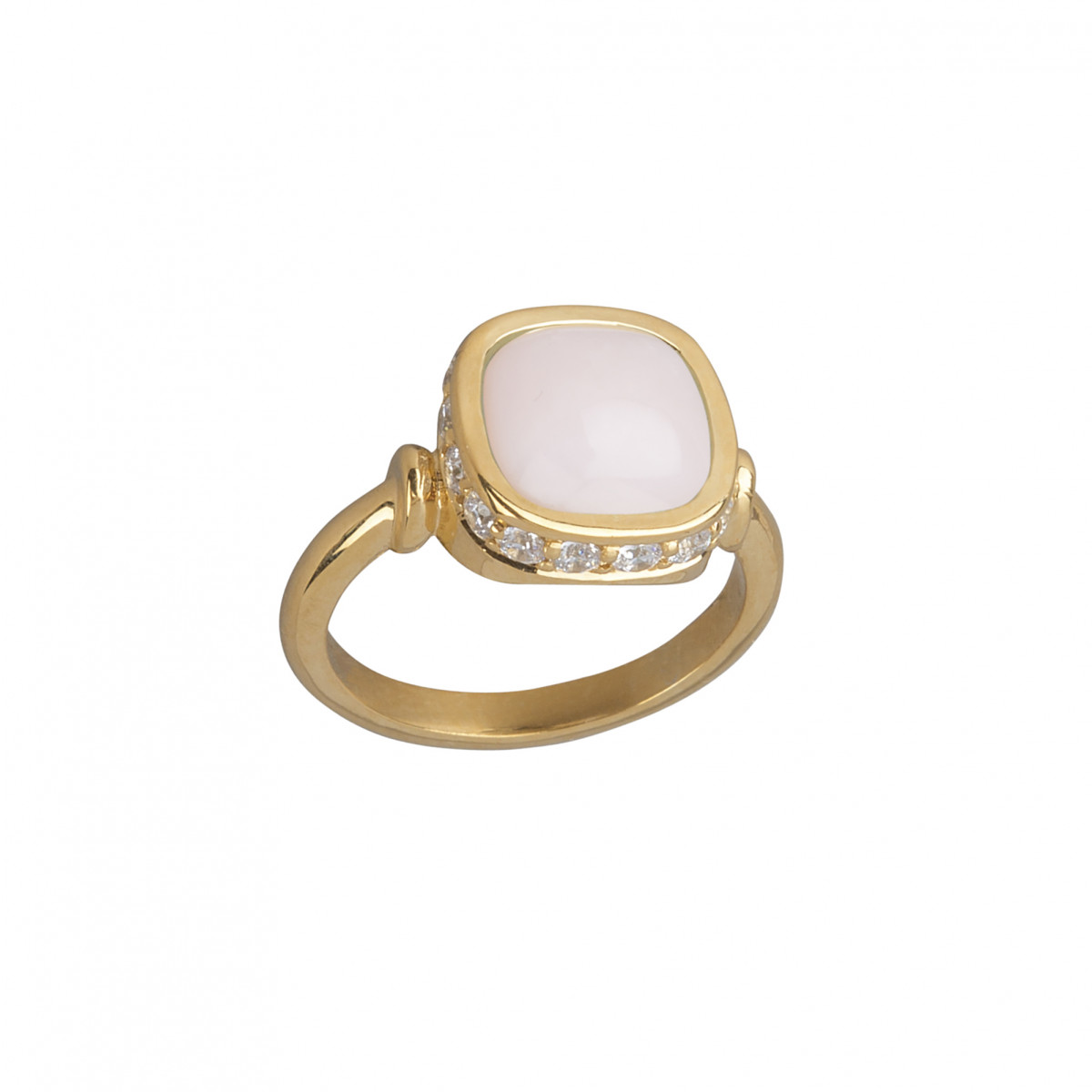 bague or jaune opale