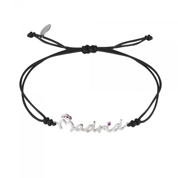 Globe-Trotter, bracelet Madrid, argent massif rhodié blanc