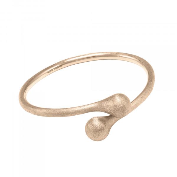 """Open Wallet"", bracelet jonc, Toi & Moi, fermoir porte-monnaie, or rose, (Taille M)"