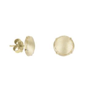 Champ boucles d'oreille puces mini capsules satinées or jaune