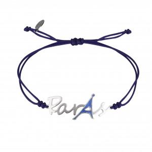 Globe-Trotter, bracelet Paris, argent massif rhodié blanc