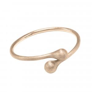 Open Wallet bracelet jonc toi et moi, fermoir porte-monnaie, argent massif plaqué or rose (Taille M)