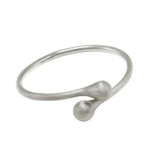 Open Wallet, bracelet jonc Toi & Moi, fermoir porte-monnaie, argent massif rhodié blanc (Taille M)