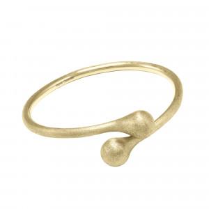 Open Wallet, bracelet jonc Toi & Moi, fermoir porte-monnaie, argent massif plaqué or jaune (Taille M)
