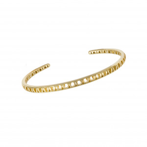 Ma Cousine Tonkinoise, bracelet jonc ajouré,or jaune,