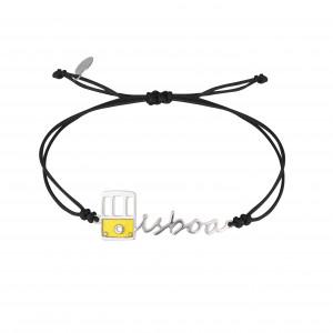 Globe-Trotter, bracelet Lisboa (Lisbonne), argent massif rhodié blanc