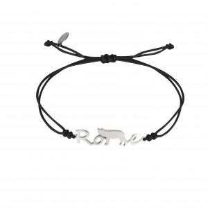 Globe-Trotter, bracelet Rome, argent massif rhodié blanc