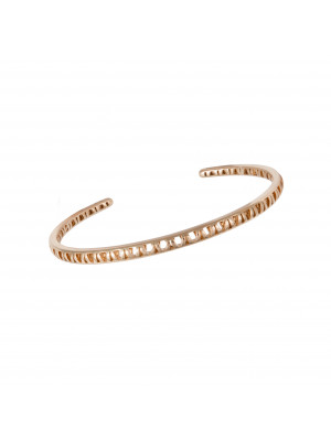 Ma Cousine Tonkinoise, bracelet jonc ajouré,or rose,