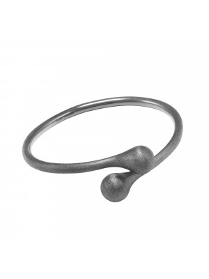 Open Wallet, bracelet jonc Toi & Moi, fermoir porte-monnaie, or noir (Taille M)