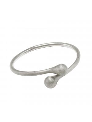 Open Wallet, bracelet jonc  Toi & Moi, fermoir porte-monnaie, or blanc, (Taille M)